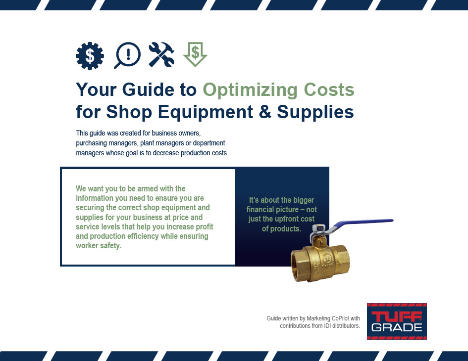 guide to optimizing costs of shop equipment and supplies tuff grade cover